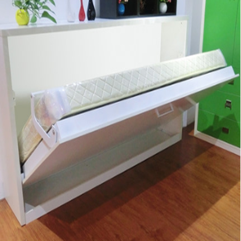 Horizontal folding hidden bed