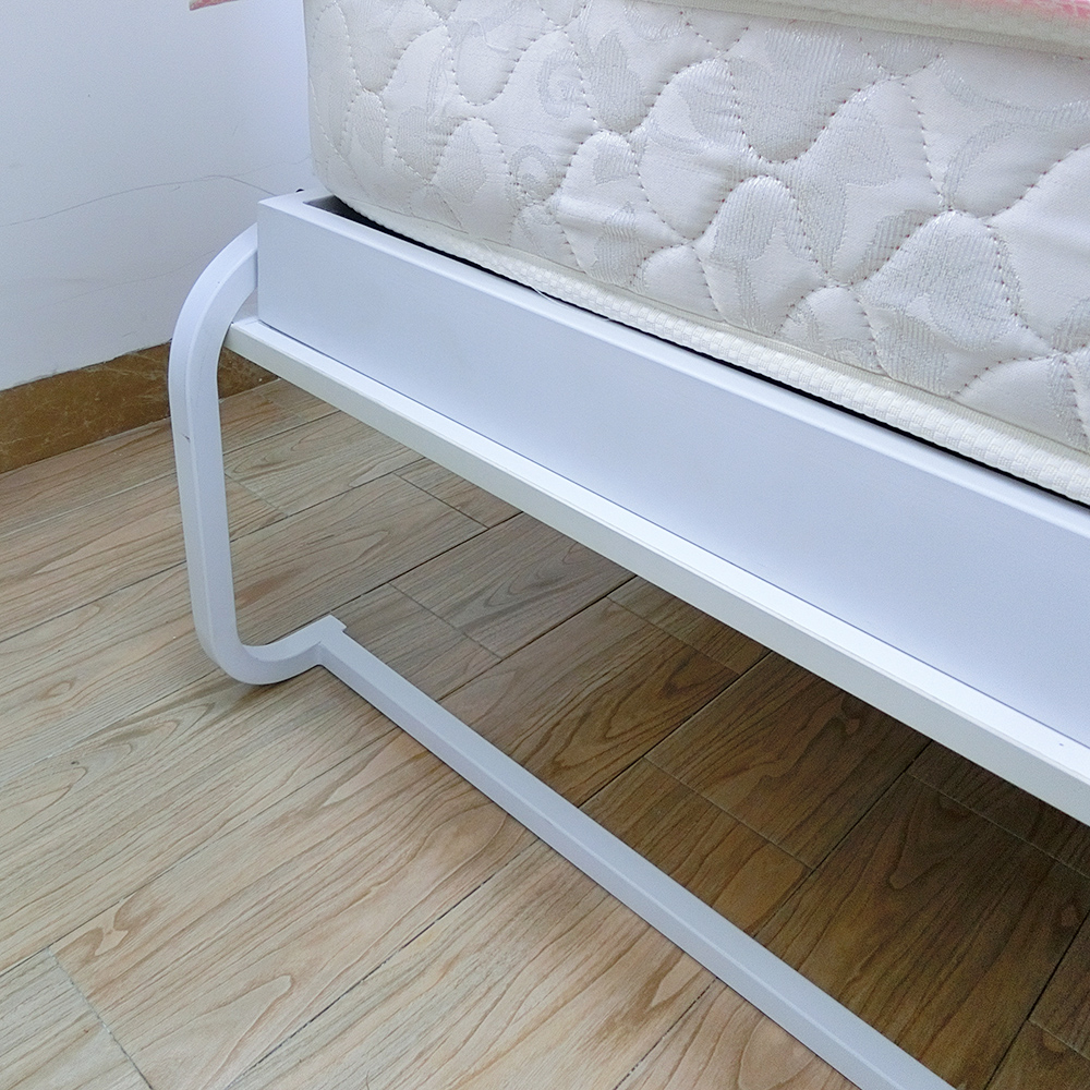 Steel bed frame for sofa wall bed