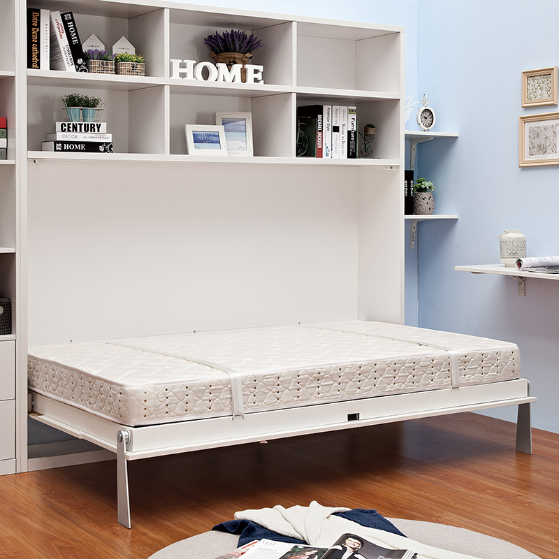 Horizontal Murphy bed with storage