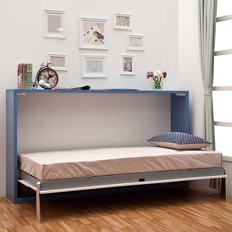Folding hidden wall bed
