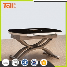 Round height adjustable table