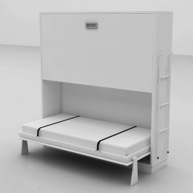 Space saver wall bed