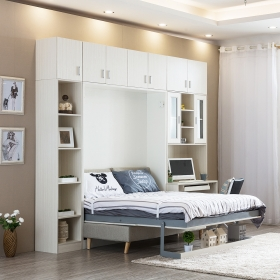 Modern small bedroom furniture wooden murphy folding wall bed