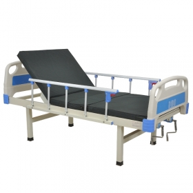 New product adjustable 2 crank manual hospital bed nursing bed for patients