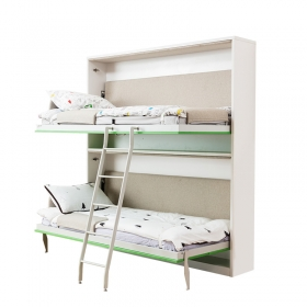 Kids bunk bed Space saving folding murphy hidden bunk bed wooden bunk bed
