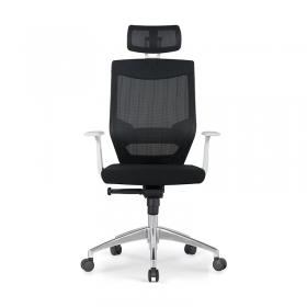 Hot Sale Office Furniture Durable Ergonomic Staff Mesh Chair with Headrest